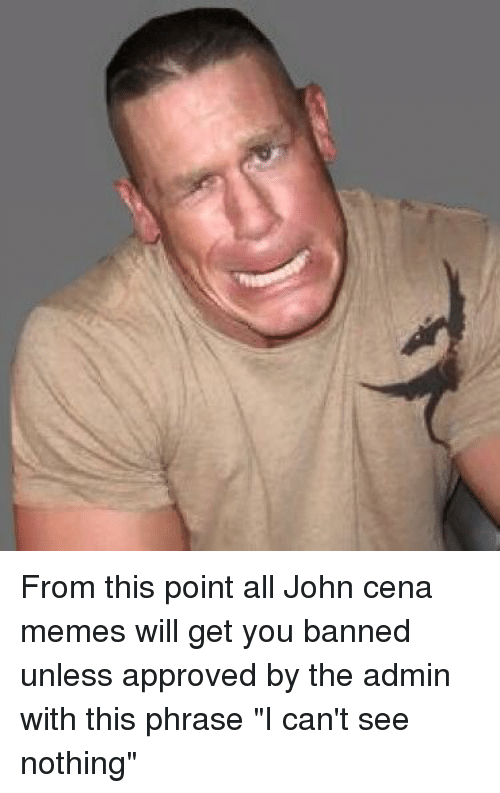 From This Point All John Cena Memes Will Get You Banned Unless