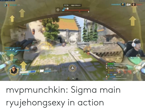 Tumblr, Blog, and Sigma: g  6:34  540 mvpmunchkin:  Sigma main ryujehongsexy in action