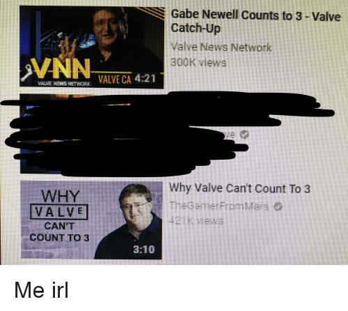 Gabe Newell Counts To 3 Valve Catch Up Valve News Network
