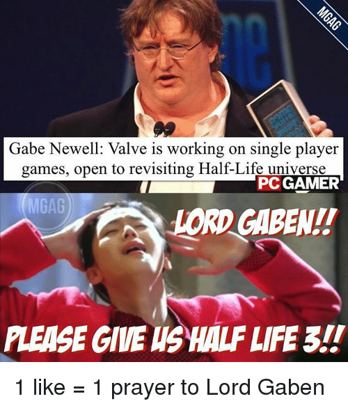 gabe newell valve is working on single player games open 12315128 gabe newell valve is working on single player games open to