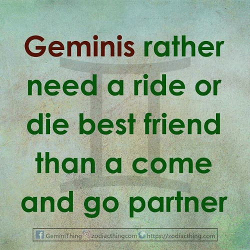 Best Friend, Best, and Com: Geminis rather  need a ride or  die best friend  than a come  and go partner  f GeminiThing  Izodiacthingcom https://zodiacthing.com