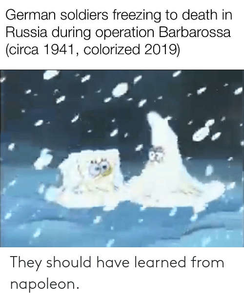 German Soldiers Freezing to Death in Russia During Operation