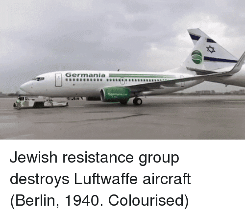 Jewish, Resistance, and Berlin: Germania Jewish resistance group destroys Luftwaffe aircraft (Berlin, 1940. Colourised)