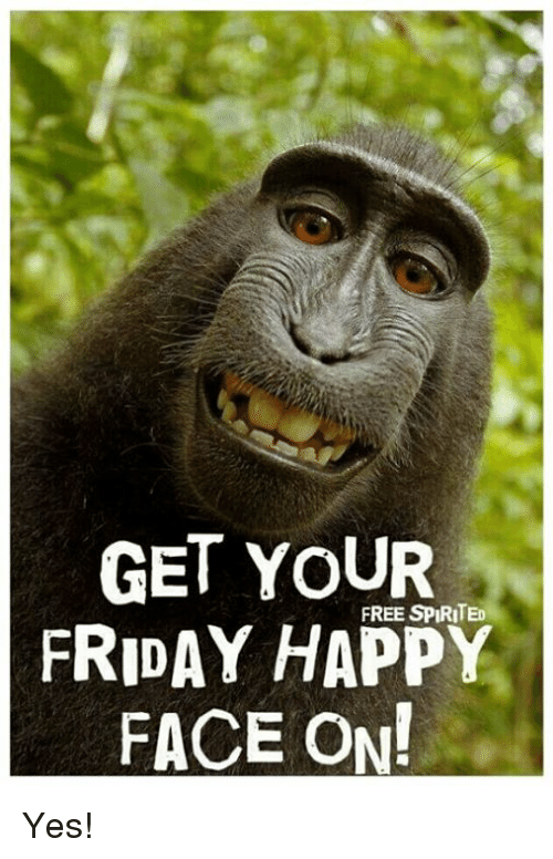 happy faces: GET YOUR  FREE SPIRITED  FRIDAY HAPPY  FACE ON! Yes!