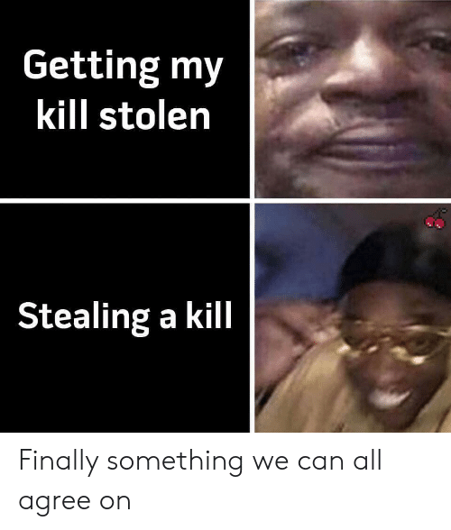 Can, All, and Stolen: Getting my  kill stolen  Stealing a kill Finally something we can all agree on