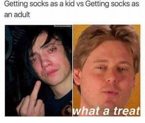 Kid Vs: Getting socks as a kid vs Getting socks as  an adult  what a treat