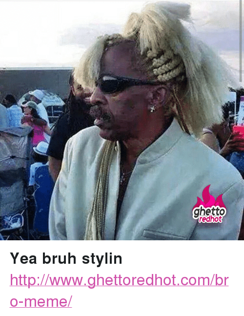 """Bro Meme: ghetto  redhot <p><strong>Yea bruh stylin</strong></p><p><a href=""""http://www.ghettoredhot.com/bro-meme/"""">http://www.ghettoredhot.com/bro-meme/</a></p>"""