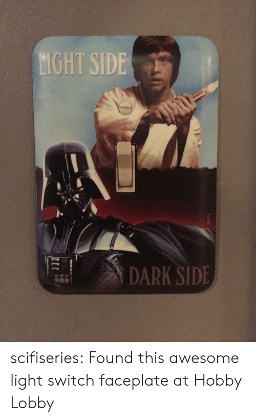 Tumblr, Blog, and Http: GHT SIDE  DARK SIDE scifiseries:  Found this awesome light switch faceplate at Hobby Lobby