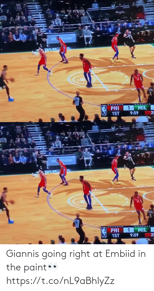 right: Giannis going right at Embiid in the paint👀 https://t.co/nL9aBhlyZz