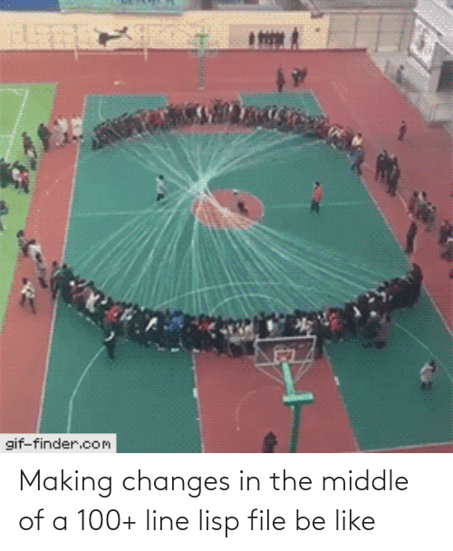 changes: gif-finder.com Making changes in the middle of a 100+ line lisp file be like