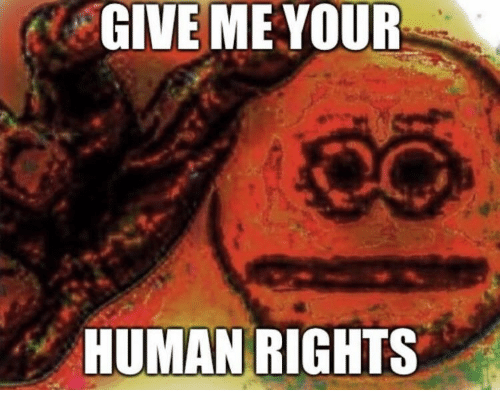 Human, Human Rights, and Give Me: GIVE ME YOUR  HUMAN RIGHTS