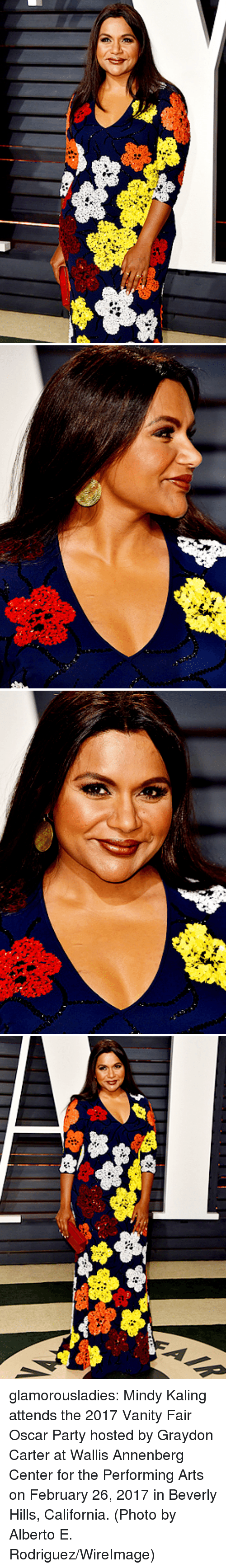 Party, Target, and Tumblr: glamorousladies:   Mindy Kaling attends the 2017 Vanity Fair Oscar Party hosted by Graydon Carter at Wallis Annenberg Center for the Performing Arts on February 26, 2017 in Beverly Hills, California. (Photo by Alberto E. Rodriguez/WireImage)