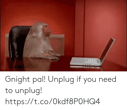 pal: Gnight pal! Unplug if you need to unplug! https://t.co/0kdf8P0HQ4