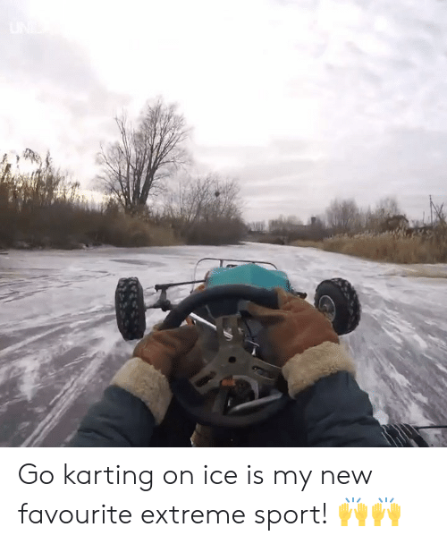 Dank, 🤖, and Ice: Go karting on ice is my new favourite extreme sport! 🙌🙌