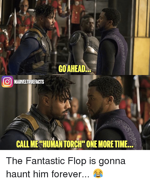 Flopping: GOAHEAD  O MARVELTRUEFACTS  CALLM The Fantastic Flop is gonna haunt him forever... 😂