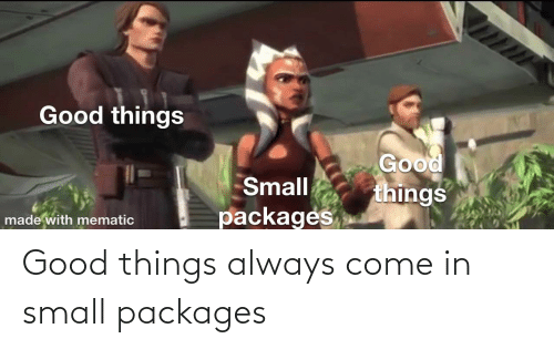 packages: Good things always come in small packages