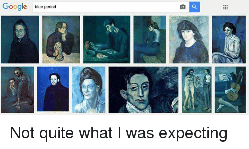 Googłe: Google blue period Not quite what I was expecting