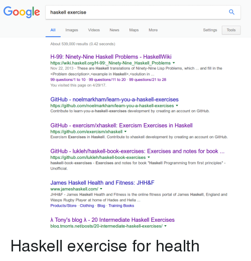 Books England And Google Haskell Exercise Images Videos News Maps All More