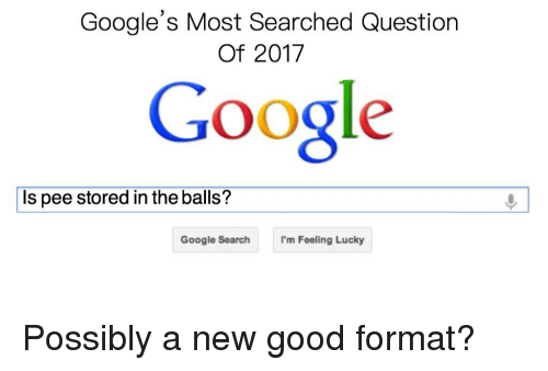 Google's Most Searched Question of 2017 Google Is Pee Stored in the