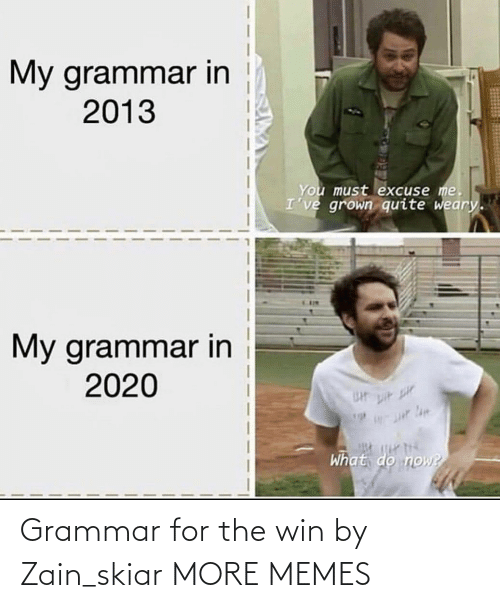 win: Grammar for the win by Zain_skiar MORE MEMES