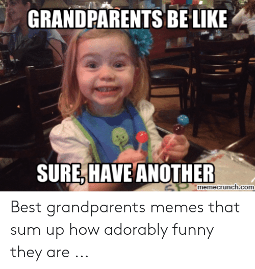 Adorably Funny: GRANDPARENTS BE LIKE  SURE,HAVE ANOTHER  SPmemecrunch.com Best grandparents memes that sum up how adorably funny they are ...