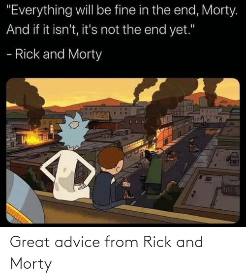 Rick and Morty: Great advice from Rick and Morty