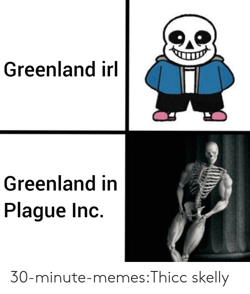 greenland: Greenland irl  Greenland in  Plague Inc. 30-minute-memes:Thicc skelly