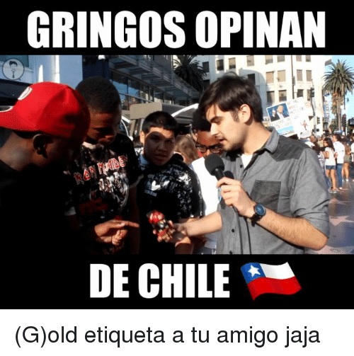 Memes, Chile, and Old: GRINGOS OPINAN  DE CHILE (G)old etiqueta a tu amigo jaja