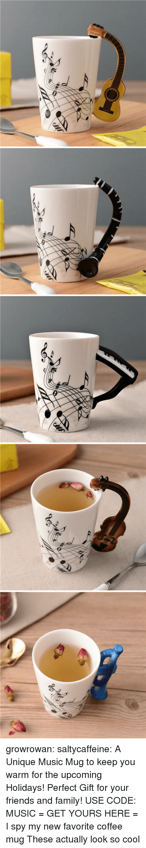 Coffee Mug: growrowan:  saltycaffeine: A Unique Music Mug to keep you warm for the upcoming Holidays! Perfect Gift for your friends and family! USE CODE: MUSIC = GET YOURS HERE =   I spy my new favorite coffee mug  These actually look so cool