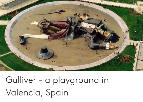 Spain, Valencia, and Valencia Spain: Gulliver - a playground in Valencia, Spain