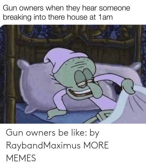 gun: Gun owners be like: by RaybandMaximus MORE MEMES