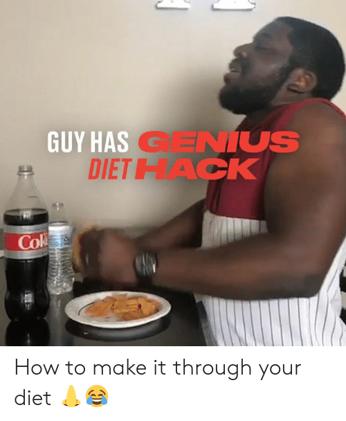 how to make: GUY HAS GENIUS  DIETHACK  Cok How to make it through your diet 👃😂