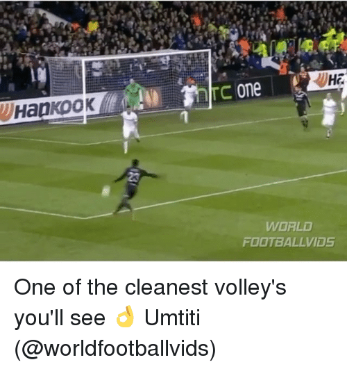 volley: Ha  one  WORLD  FOOTBALLVID5 One of the cleanest volley's you'll see 👌 Umtiti (@worldfootballvids)