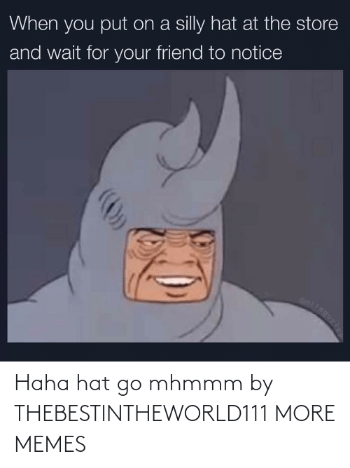 hat: Haha hat go mhmmm by THEBESTINTHEWORLD111 MORE MEMES
