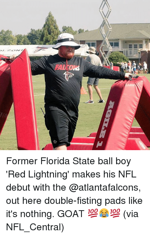 hal ons former florida state ball boy red lightning makes his nfl
