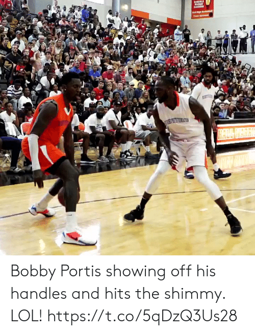 bobby: HALL WARK Bobby Portis showing off his handles and hits the shimmy. LOL! https://t.co/5qDzQ3Us28