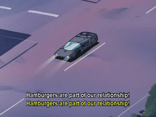 Relationship, Hamburgers, and Part: Hamburgers are part of our relationship!  Hamburgers are part of our relationship!