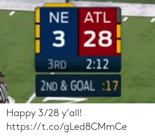Happy: Happy 3/28 y'all! https://t.co/gLed8CMmCe