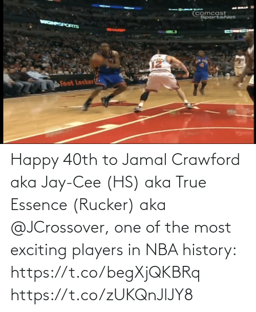 Essence: Happy 40th to Jamal Crawford aka Jay-Cee (HS) aka True Essence (Rucker) aka @JCrossover, one of the most exciting players in NBA history: https://t.co/begXjQKBRq https://t.co/zUKQnJlJY8