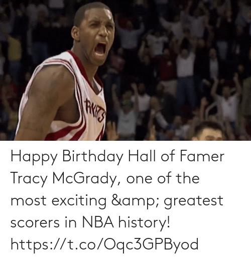 one of the most: Happy Birthday Hall of Famer Tracy McGrady, one of the most exciting & greatest scorers in NBA history!   https://t.co/Oqc3GPByod