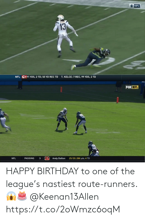 Happy Birthday: HAPPY BIRTHDAY to one of the league's nastiest route-runners. 😱🎂 @Keenan13Allen https://t.co/2oWmzc6oqM