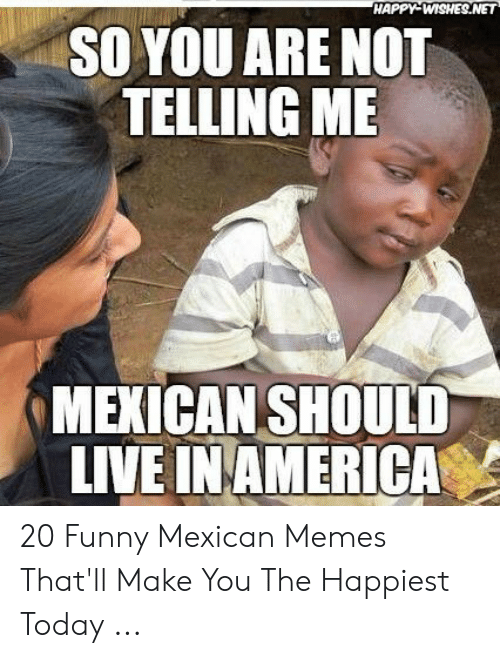 funny mexican memes: HAPPY WISHES.NET  SO YOU ARE NOT  TELLING ME  MEXICAN SHOULD  LIVE IN AMERICA 20 Funny Mexican Memes That'll Make You The Happiest Today ...