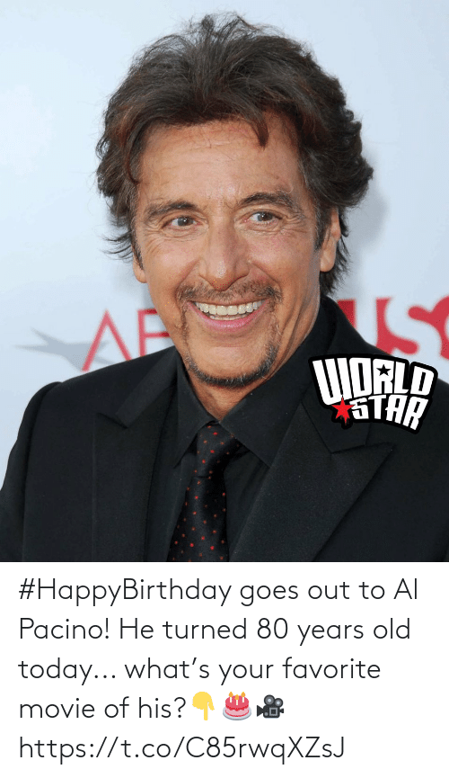Favorite: #HappyBirthday goes out to Al Pacino! He turned 80 years old today... what's your favorite movie of his?👇🎂🎥 https://t.co/C85rwqXZsJ