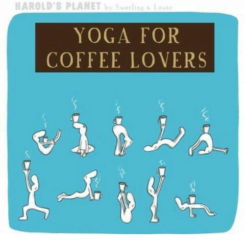 coffee lovers: HAROLD'S PLANET by Swerlin  laan  YOGA FOR  COFFEE LOVERS