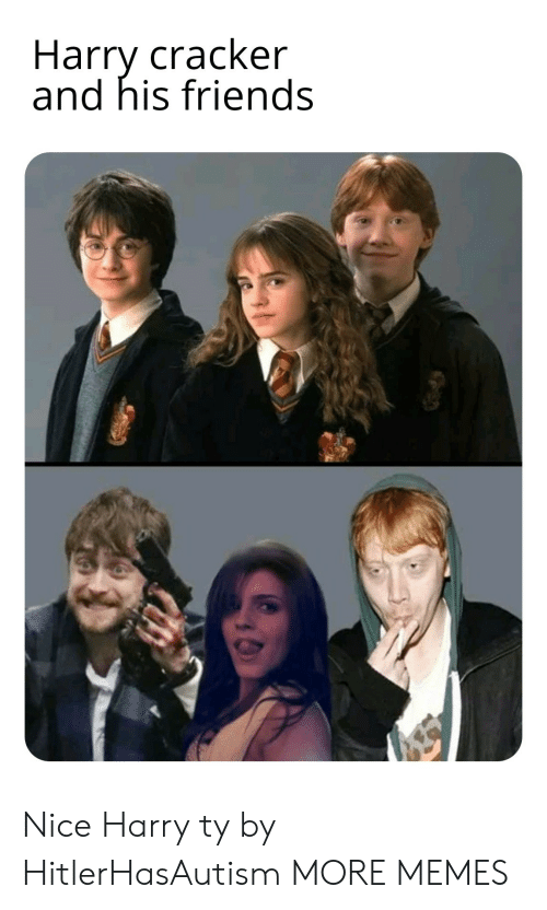 Dank, Friends, and Memes: Harry cracker  and his friends Nice Harry ty by HitlerHasAutism MORE MEMES