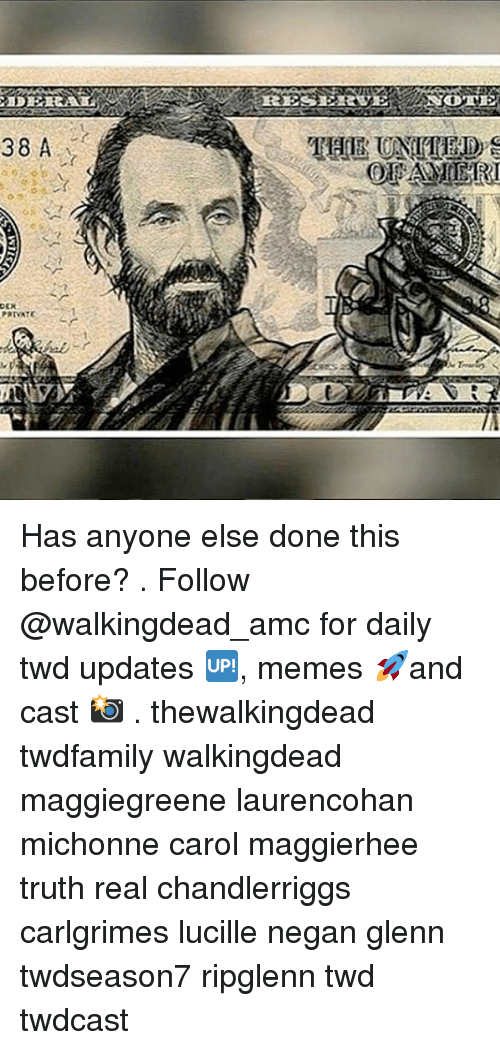 Carole: Has anyone else done this before? . Follow @walkingdead_amc for daily twd updates 🆙, memes 🚀and cast 📸 . thewalkingdead twdfamily walkingdead maggiegreene laurencohan michonne carol maggierhee truth real chandlerriggs carlgrimes lucille negan glenn twdseason7 ripglenn twd twdcast