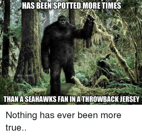 Nfl Mems: HAS BEEN SPOTTED MORETIMES  @NFL MEM  THAN ASEAHAWKSFANIN ATHROWBACKJERSEY Nothing has ever been more true..