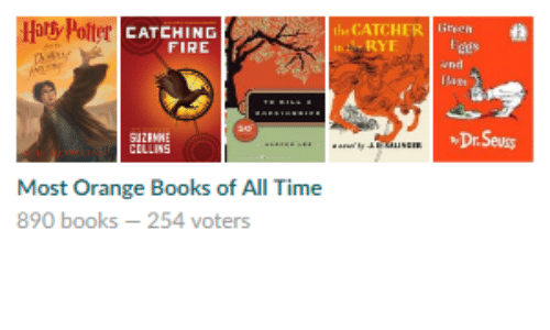 Dr. Seuss: Hats Polter  the CATCHER liren  CATCHING  RYT  FIRE  Dr.Seuss  Most Orange Books of All Time  890 books -254 voters