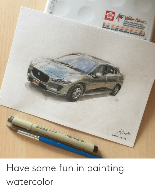 painting: Have some fun in painting watercolor