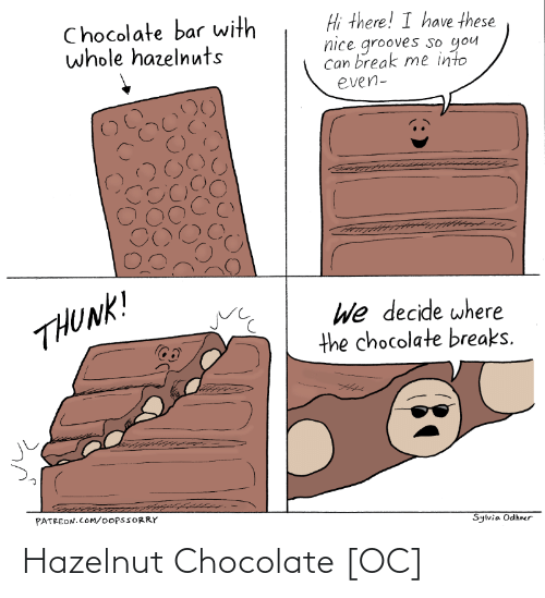 Chocolate: Hazelnut Chocolate [OC]